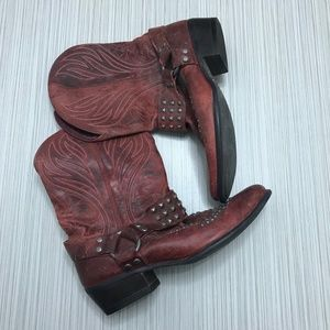 Ariat Epic Redwood Cowgirl Boots Burgundy